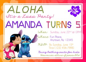 Luau Birthday Invites